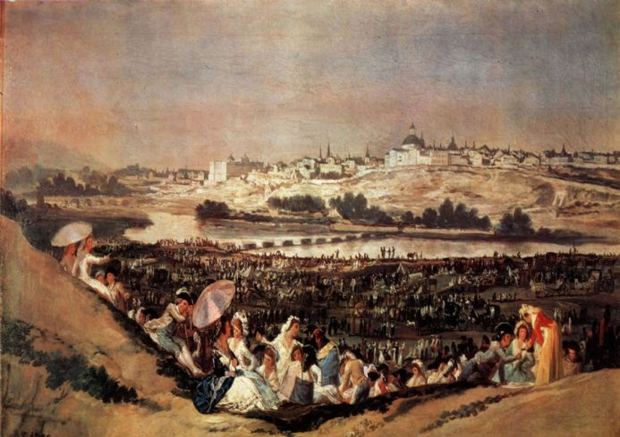 Goya, Francisco de: The Meadow of San Isidro on his Feast Day. Fine Art Print/Poster. Sizes: A4/A3/A2/A1 (001434)